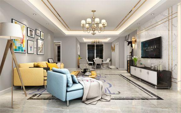 华邦蜀山里80平两居室现代风格装修效果图