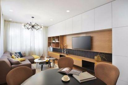 和平村115平米现代简约风格三居室装修效果图