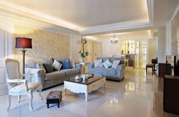 先锋花园两室两厅美式风格80平米装修效果图