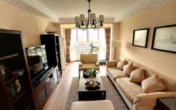 武夷嘉园两室两厅美式风格80平米装修效果图