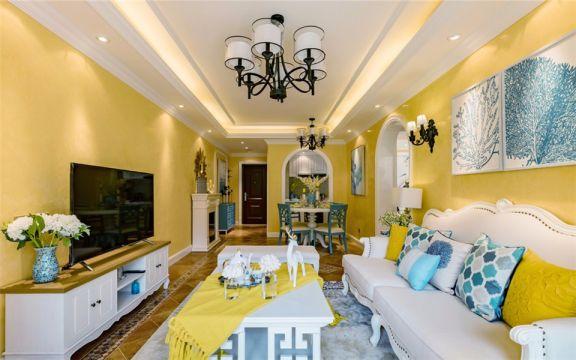 长盛西苑地中海风格75平方二居室装修效果图