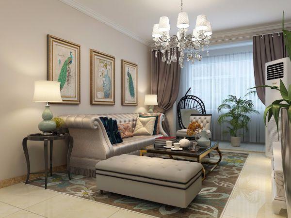 绿地新里香榭丽公馆115平三居室简欧风格装修效果图