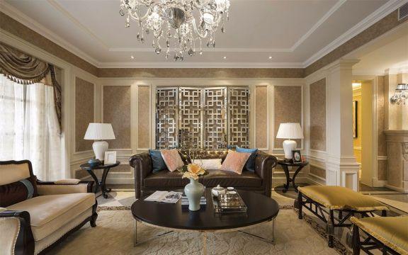 环太湖艺术城138平欧式风格三居室装修效果图