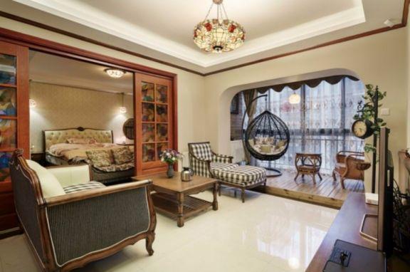 飞凤山庄一期110平两室两厅美式装修案例