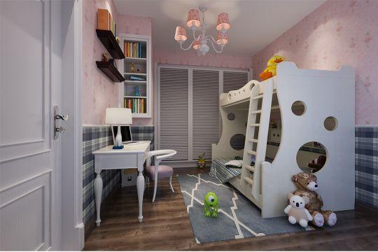 儿童房床美式风格装饰效果图