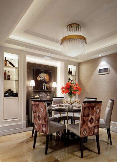 左邻右里新古典风格90平方三居室装修效果图