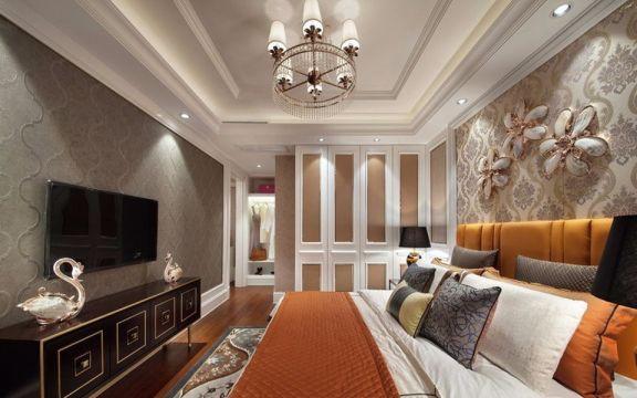 卧室床新古典风格装饰效果图