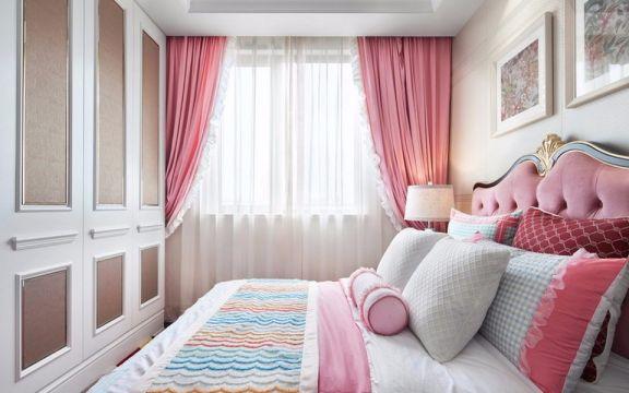 儿童房床新古典风格装潢效果图