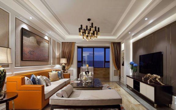 客厅沙发新古典风格装修图片