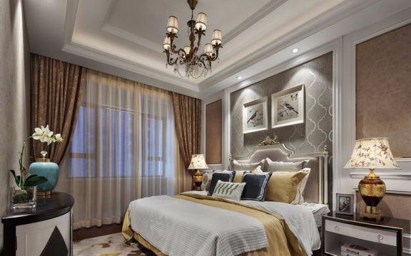 卧室床新古典风格装饰图片