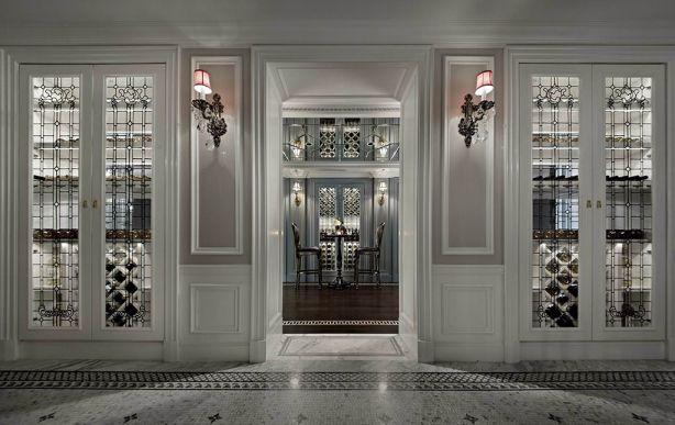 110平法式两居室装修效果图