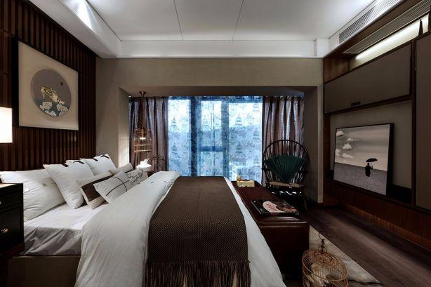 110平东南亚风两室一厅装修效果图