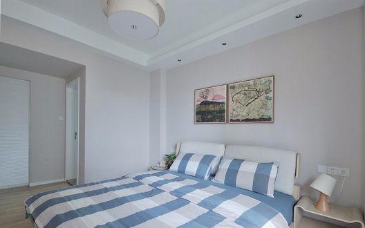 卧室床简约风格装饰设计图片
