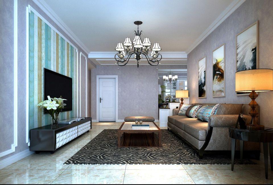 金城美邻美式风格140平三居室装修效果图