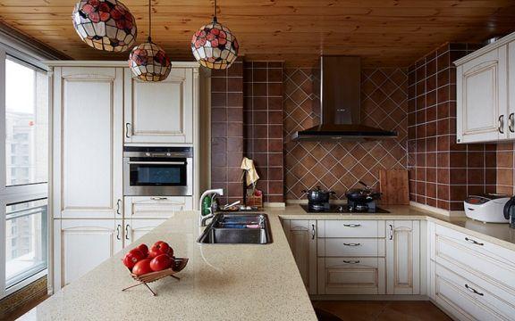 厨房橱柜田园风格装潢图片