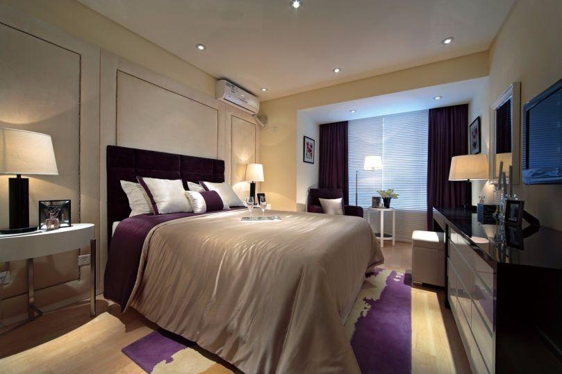卧室落地窗现代简约风格装修设计图片
