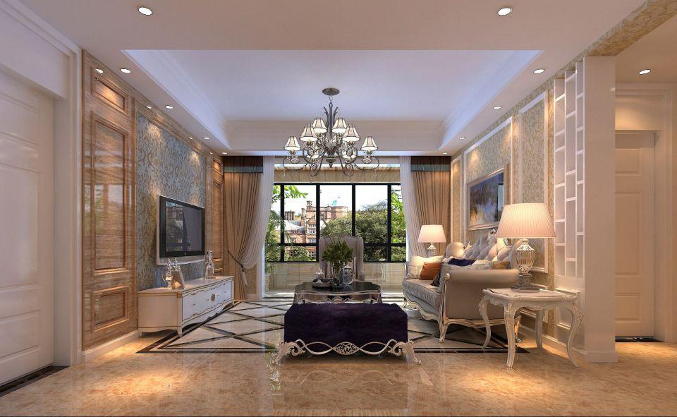 朴素温馨客厅背景墙装修设计图片