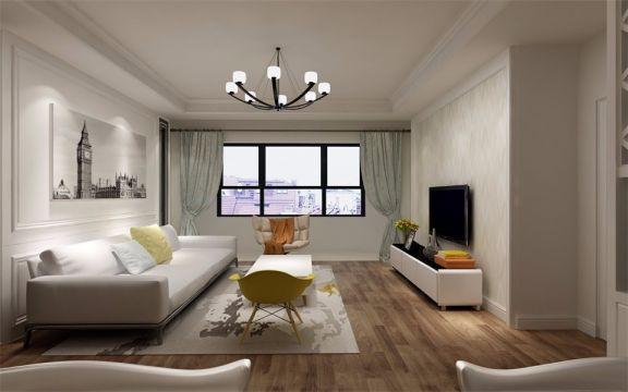 2019现代中式110平米装修图片 2019现代中式二居室装修设计