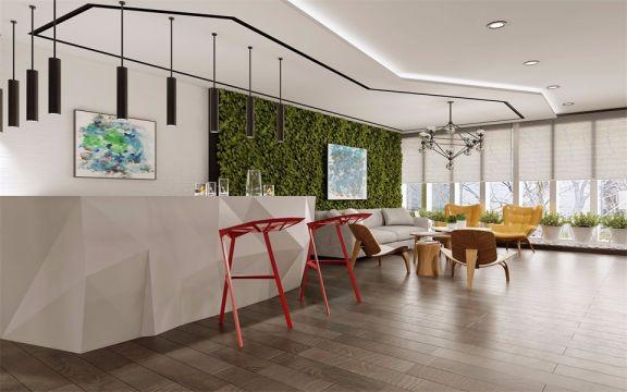 800平方北欧风格办公室装修效果图