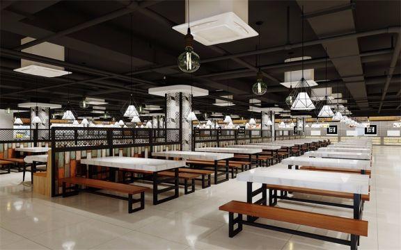 2000平方混搭风格美食广场装修效果图