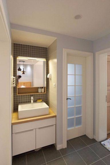 优雅白色卫生间室内效果图