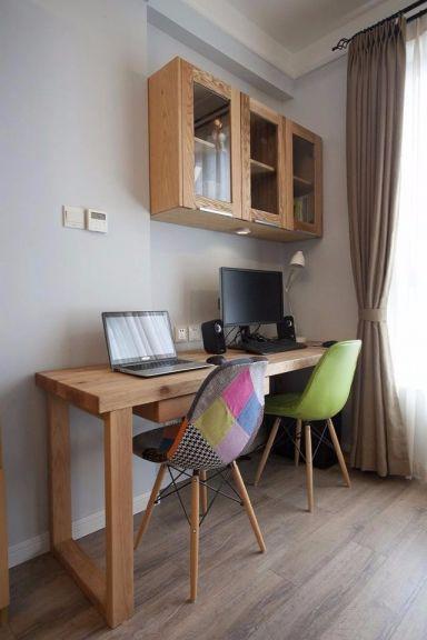 摩登咖啡色书桌装饰设计图片