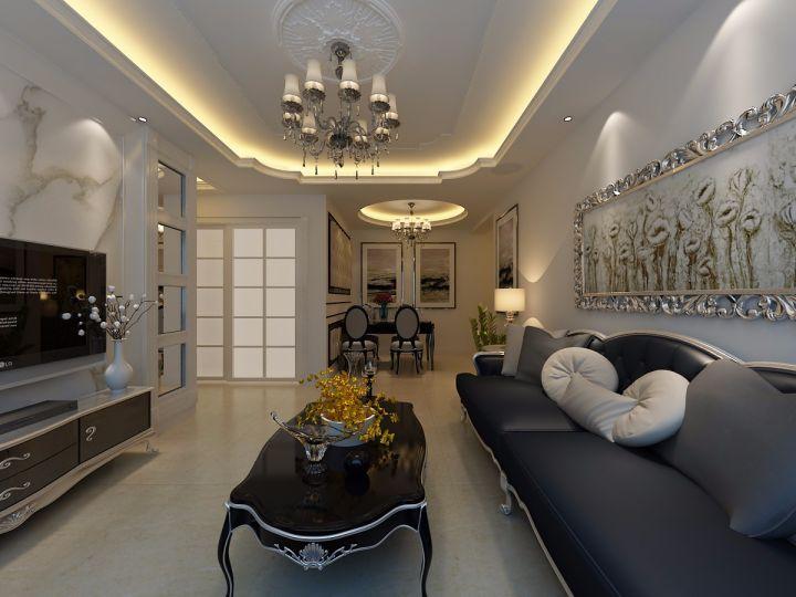 90平米简欧风格两居室装修效果图