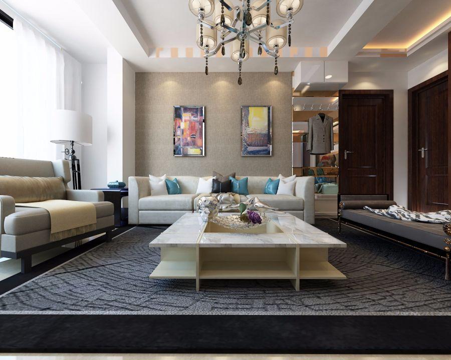 碧桂园银河城星荟63平米现代简约风格三居室装修效果图