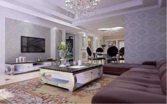 万科金域国际135平米简欧风格三居室装修效果图