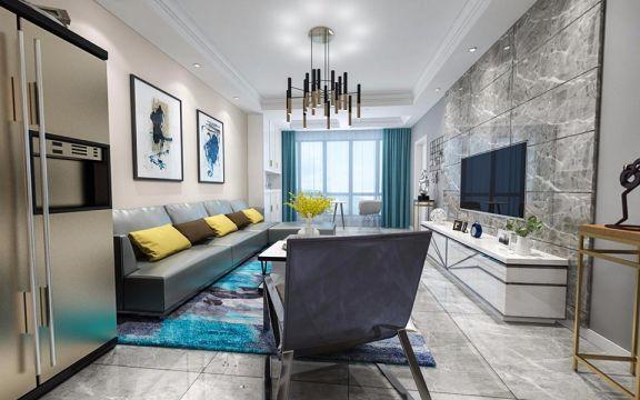 南湖巴黎春天现代简约风格100平米三居装修效果图