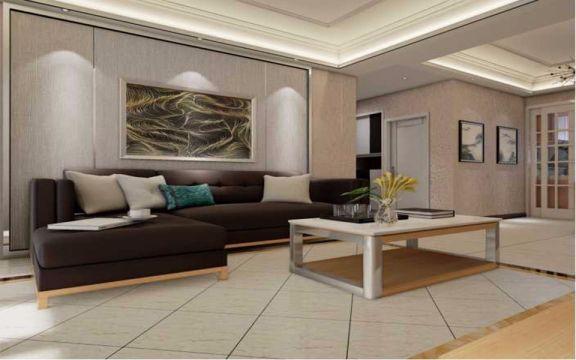 银龙花园小户型混搭风格80平米装修效果图
