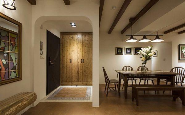 客厅走廊田园风格装潢效果图