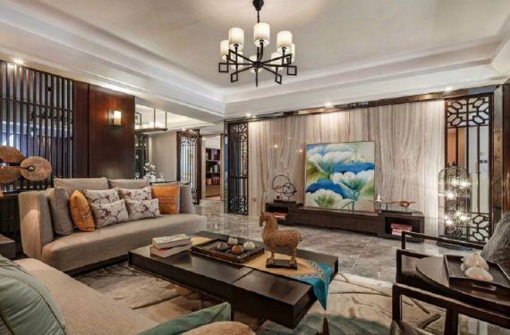 七海花园现代中式风格100平米套房装修效果图