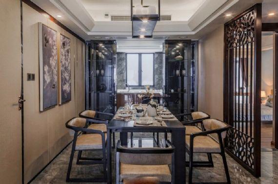 餐厅餐桌现代中式风格装修图片