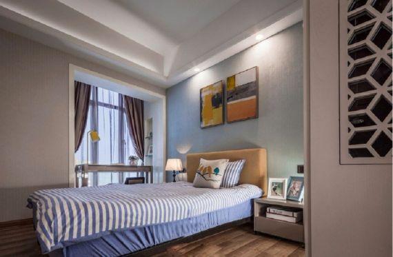 卧室床现代中式风格装修设计图片