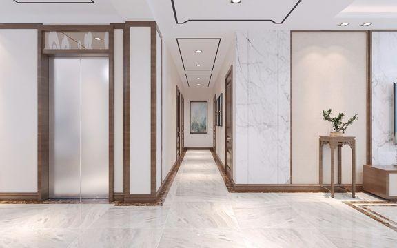 玄关走廊现代中式风格效果图