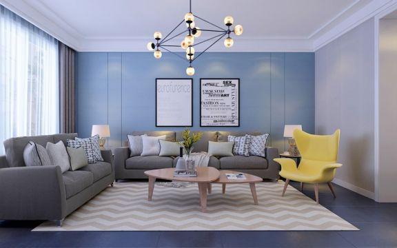美感客厅沙发室内效果图