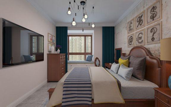 万达文华公馆130平北欧二居室装修效果图