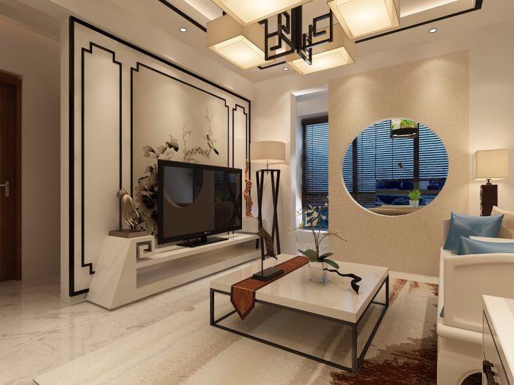 碧桂园银河城星荟60平新中式两居室效果图