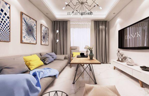 2019北欧90平米效果图 2019北欧三居室装修设计图片