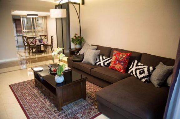凤翔湖滨世纪两室一厅90平混搭装修效果图