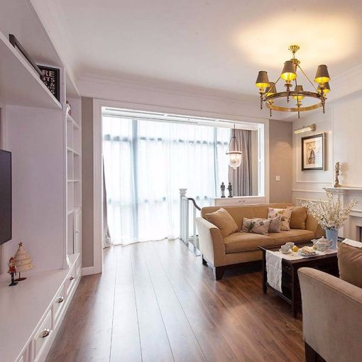 客厅白色飘窗美式风格装修效果图