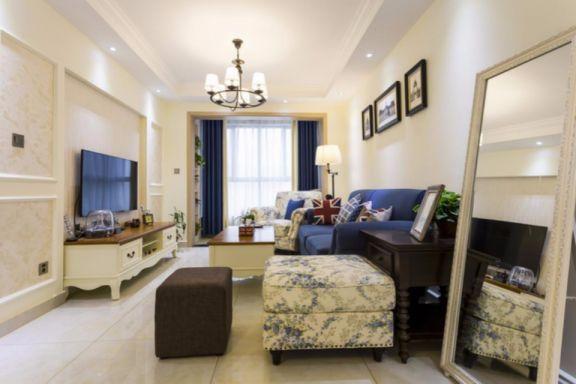 客厅彩色细节美式风格装饰效果图