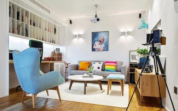 津通国际135平北欧风格三居室装修效果图