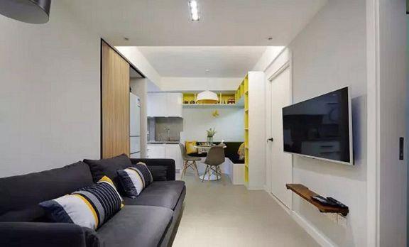 曼哈顿48平现代简约风格二居室装修效果图
