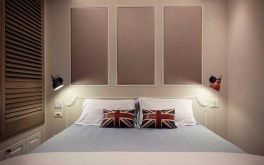 卧室灰色衣柜美式风格装饰效果图
