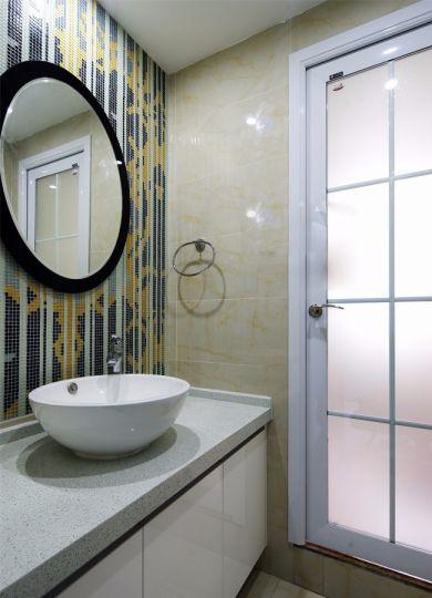 卫生间彩色洗漱台现代风格效果图