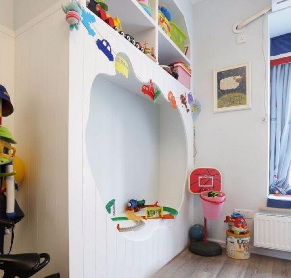 儿童房彩色衣柜美式风格装修图片