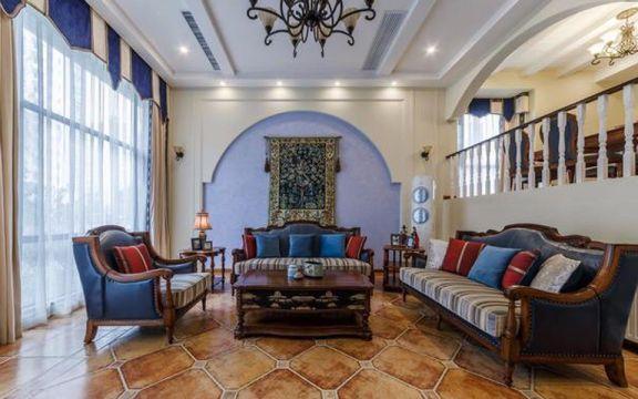 地中海风格300平米别墅新房装修效果图