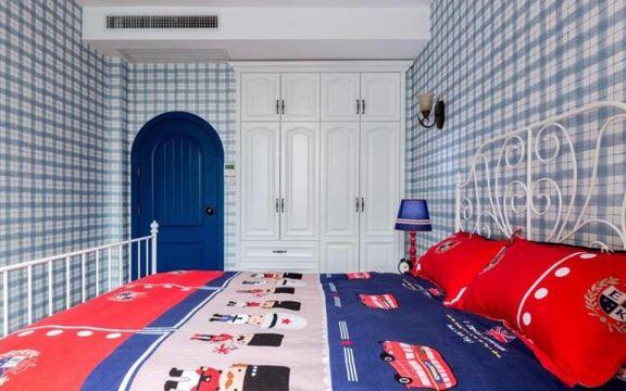 卧室白色衣柜地中海风格效果图